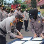 Kapolres Garut Pimpin Sertijab Kasat Lantas, Dan Beberapa Kapolsek Jajaran Polres Garut