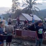 Delapan Rumah Hangus Terbakar di Desa Cikate